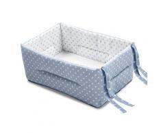 Riduttore Lettino Culla Bebè Con Materassino Italbaby Pois Azzurro