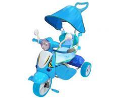 Triciclo A Spinta Seggiolino Reversibile Per Bambini Kids Joy Scooter Boy Blu