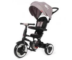 Passeggino Triciclo Pieghevole Qplay Rito 3 In 1 Happy Kids Grigio