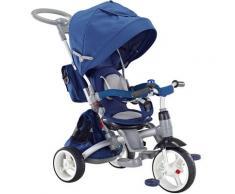 Triciclo Passeggino Seggiolino Reversibile 6in1 Happy Kids Blu