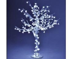 Albero Di Natale Luminoso Con 216 Led Bianco Freddo H100cm Adami Ciliegio