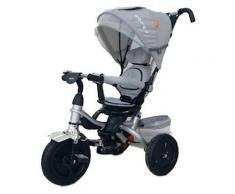 Passeggino Triciclo Seggiolino Reversibile Kids Joy Royal Grigio