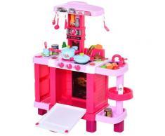 Cucina Giocattolo Per Bambini Con Utensili 78x29x87 Cm Rosa