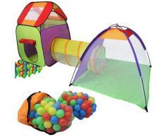 Tenda Igloo Per Bambini Con Tunnel E 200 Palline