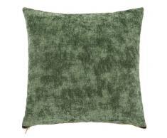 Fodera di cuscino verde e ocra, 40x40cm