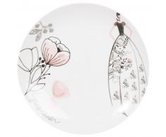 Piatto piano in porcellana bianco