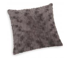Cuscino grigio in simil pelliccia 45 x 45 cm CAMANN