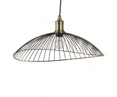 Lampada a sospensione in metallo effetto ottone