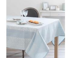 Tovaglia blu in cotone e lino 170 x 310 cm LISBONNE