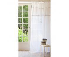 Tenda bianca in lino con laccetti 140 x 250 cm HABSBOURG