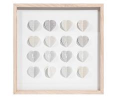 Quadro in legno 50 x 50 cm LOVE & HEARTS