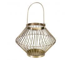Lanterna dorata in fili di metallo