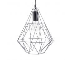Lampada a sospensione con fili in metallo grigio H 32 cm TRENDY GREY