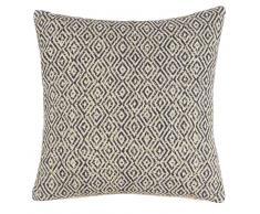 Fodera di cuscino con motivi jacquard in cotone 40x40