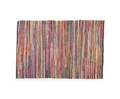 Tappeto intrecciato multicolore in cotone 140 x 200 cm ROULOTTE