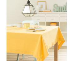 Tovaglia a tinta unita giallo senape in cotone 150 x 250 cm