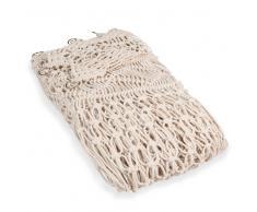 Tenda macramè di cotone écru 105 x 250 cm