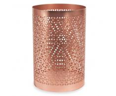 Candeliere in metallo H 15 cm ORIGAMIX COPPER