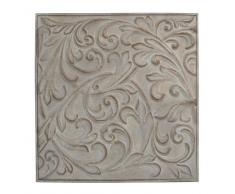 Decorazione a parete in metallo grigia 36 x 36 cm ÉLÉONORE