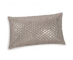 Fodera di cuscino in cotone e monetine ricamate 30x50 cm AGRIGENTE