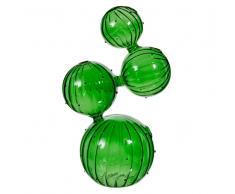 Vaso verde in vetro H 26 cm CACTUS