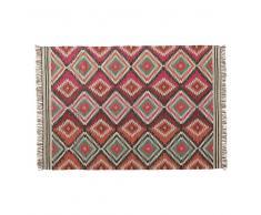 Tappeto intrecciato multicolore in lana 140 x 200 cm ACAPULCO