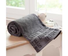 Telo da bagno grigio in cotone 70 x 140 cm MODERN