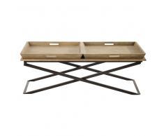 Tavolo basso in mango e metallo L 120 cm Hippolyte