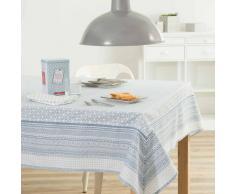 Tovaglia blu in cotone 170 x 310 cm FJORD