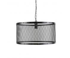 Lampadario nero stile industriale in metallo a griglia D 55 cm LOUIS