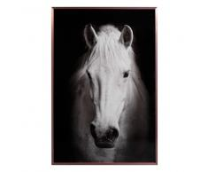 Quadro cavallo bianco 52 x 72 cm COOPER