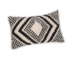 Fodera di cuscino nera/beige 30 x 50 cm AGADEZ