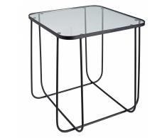 Tavolino da salotto nero in vetro e metallo MARK