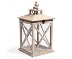 Lanterna in legno H 46 cm CONSTANCE