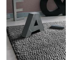 Tappeto grigio in lana 160 x 230 cm INDUSTRY