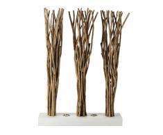 Paravento luminoso in legno e cotone bianco L 100 cm TOUNDRA