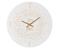 Orologio bianco con stampa coriandoli dorati