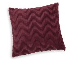 Cuscino rosso marsala in simil pelliccia 45 x 45 cm VIVIEN
