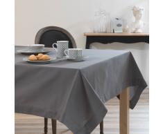 Tovaglia quadrata tinta unita grigio antracite in cotone 170 x 170 cm