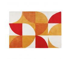Tappeto retro' con motivi tricolore 140x200 cm POPUNDY