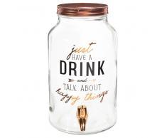 Dispenser da bevande in vetro a motivi