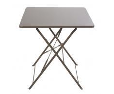Tavolo da giardino pieghevole in metallo talpa 2 persone, 70 cm Guinguette