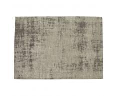 Tappeto grigio in cotone 200 x 290 cm FEEL