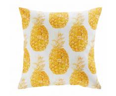 Cuscino da giardino bianco in tessuto stampato ananas 45x45 ABACA