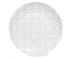 Piatto piano grigio in porcellana CHAMBORD