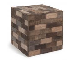 Tavolino da salotto multicolore in legno a forma di cubo L 41 cm PRAJA