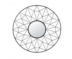 Specchio a reticolo nero, D 95 cm