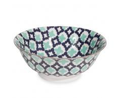Insalatiera in porcellana a fiori blu TAVIRA
