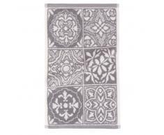 Asciugamano in cotone a motivi piastrelle, 30x50