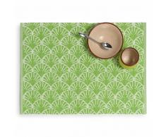 Tovaglietta verde in cotone 33 x 48 cm PALM